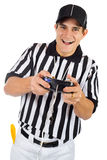 Referee: Holding A Video Game Controller Stock Image