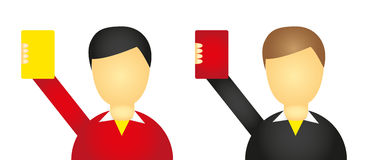 Referee icons Royalty Free Stock Image