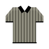 Referee jersey stripes american football Royalty Free Stock Image