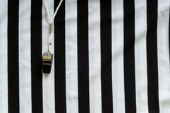 Referee Jersey and whistle Royalty Free Stock Image