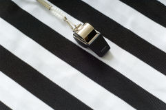 Referee Jersey and whistle Royalty Free Stock Images