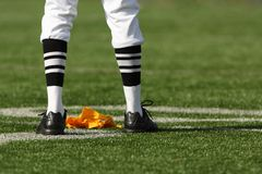 Referee Legs and Flag Royalty Free Stock Image
