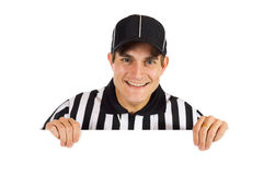 Referee: Looking At Camera From Behind White Card Stock Images