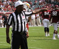 Referee makes a call Stock Photos
