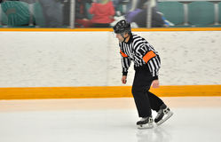 Referee in NCAA Ice Hockey Game Stock Images