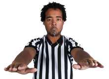 Referee with play gesture Royalty Free Stock Photography