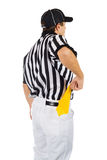 Referee: Pulling Penalty Flag From Pocket Royalty Free Stock Photo