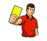 Referee Raise Yellow Card Royalty Free Stock Photos