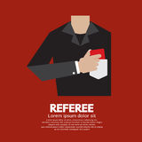 Referee With Red Card Stock Image