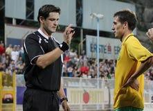 Referee's decision Stock Photo