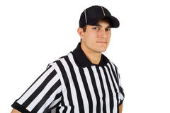 Referee: Serious Football Official Royalty Free Stock Image