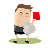 Referee is showing a red card Stock Photos