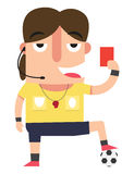 The referee showing the red card. Illustration,vector Stock Photography