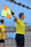 Referee is showing a way Royalty Free Stock Images