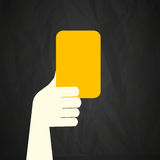 Referee showing yellow card Royalty Free Stock Images