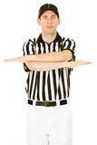 Referee: Signalling an Incomplete Pass Royalty Free Stock Image