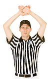 Referee: Signalling a Time Out Royalty Free Stock Photo