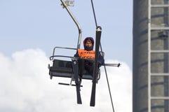 Referee on ski-lift royalty free stock photos