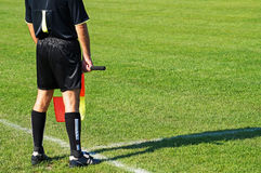 Referee of the soccer match Stock Photos