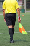 Referee of the soccer match Stock Image