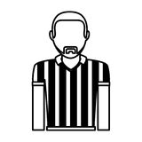 Referee sport avatar character Royalty Free Stock Photo