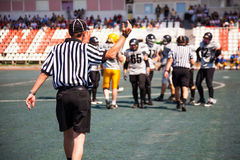 The referee stopped the game Royalty Free Stock Images