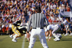 Referee watching the  game Royalty Free Stock Image