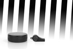 Referee whistle and washer Royalty Free Stock Images