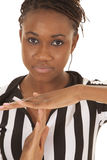 Referee woman very close time out Royalty Free Stock Images