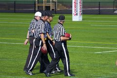 Referees in American football, UK. Referees of American football game - match in UK Royalty Free Stock Photo