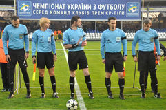 Referees before the match Royalty Free Stock Photo