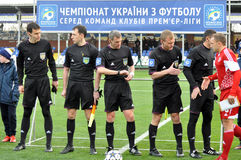 Referees before the match Stock Photos