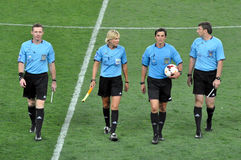 Referees after the match Stock Photo