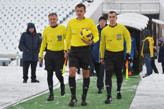 Referees in winter Stock Images