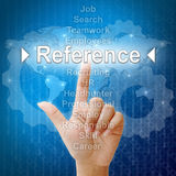 Reference in word for Human resourcess Royalty Free Stock Photos