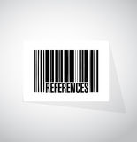 References barcode sign concept Royalty Free Stock Image
