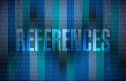 References binary sign concept Stock Photo