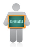 References board sign concept Stock Image