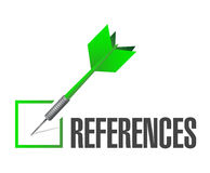 References check dart sign concept Royalty Free Stock Photo