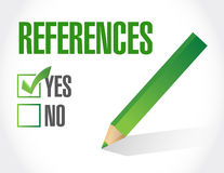 References check list sign concept illustration Royalty Free Stock Photo