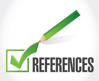 References check mark sign concept Stock Photo