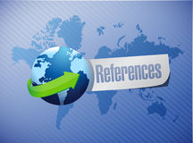 References globe sign concept Stock Image
