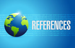 References globe sign concept Stock Photo
