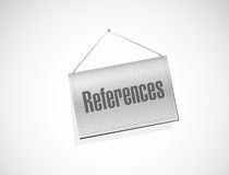 References hanging sign concept illustration Royalty Free Stock Image