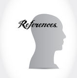 References head sign concept Royalty Free Stock Images