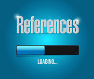 References loading sign concept Royalty Free Stock Photos