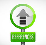 References road sign concept illustration Stock Images