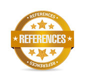References seal sign concept Royalty Free Stock Image