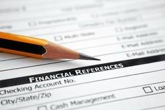 Referencias financieras Imagen de archivo libre de regalías