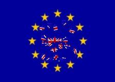 Referendo retirada BRITÂNICA da União Europeia de E. -, licença britânica de Reino Unido de Brexit ou de Grâ Bretanha Inglaterra  ilustração stock